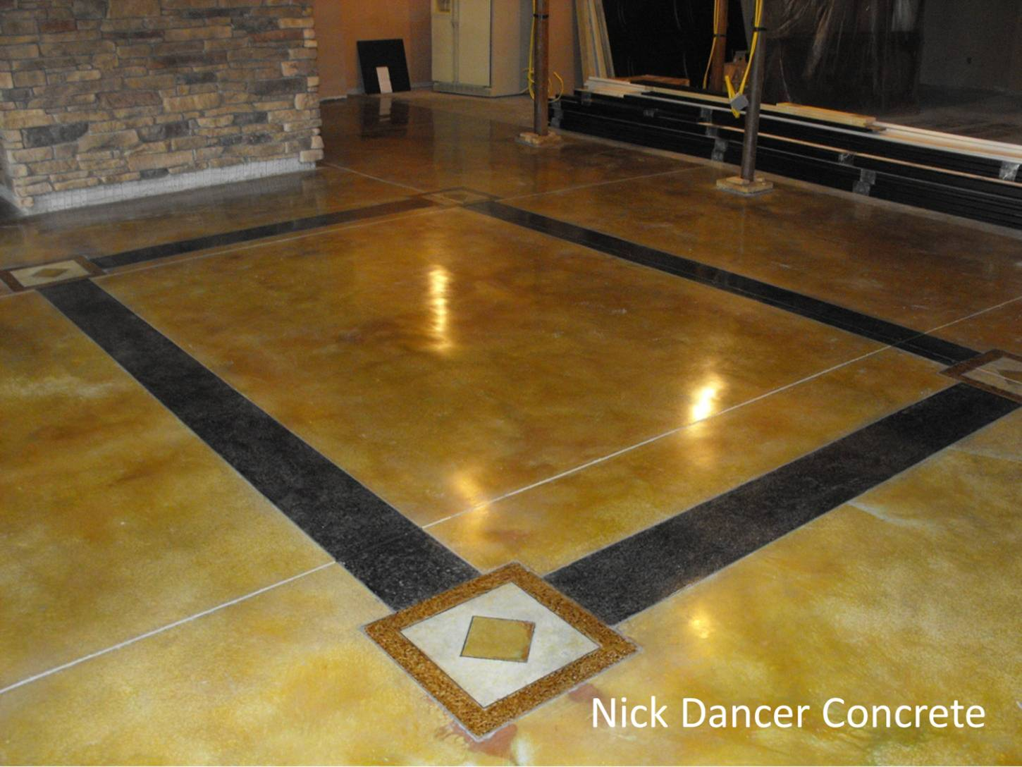 Stained concrete floors cozy with concrete for Cozy floor
