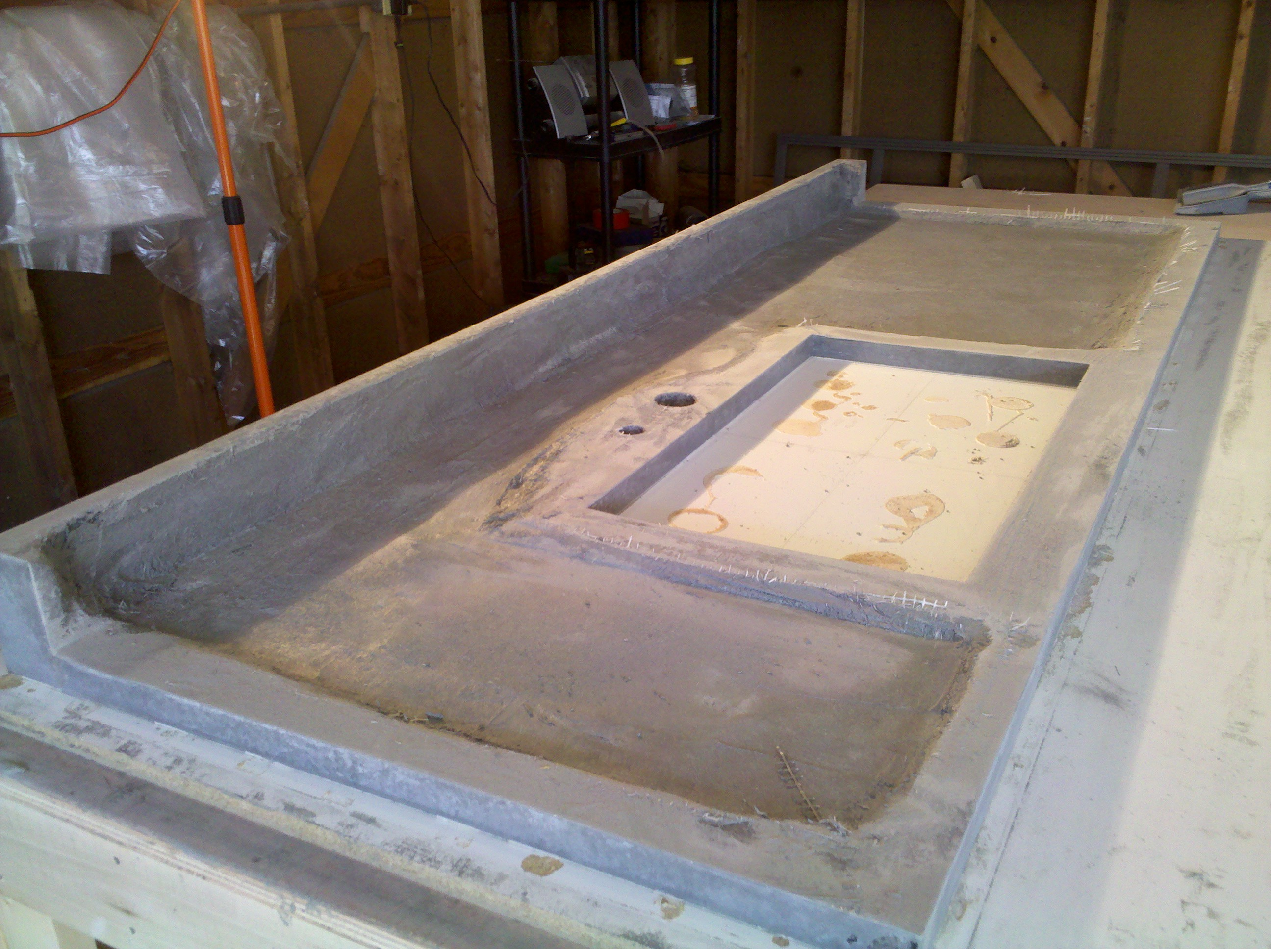 Concrete Countertop Fabrication Fort Wayne IN Nick Dancer