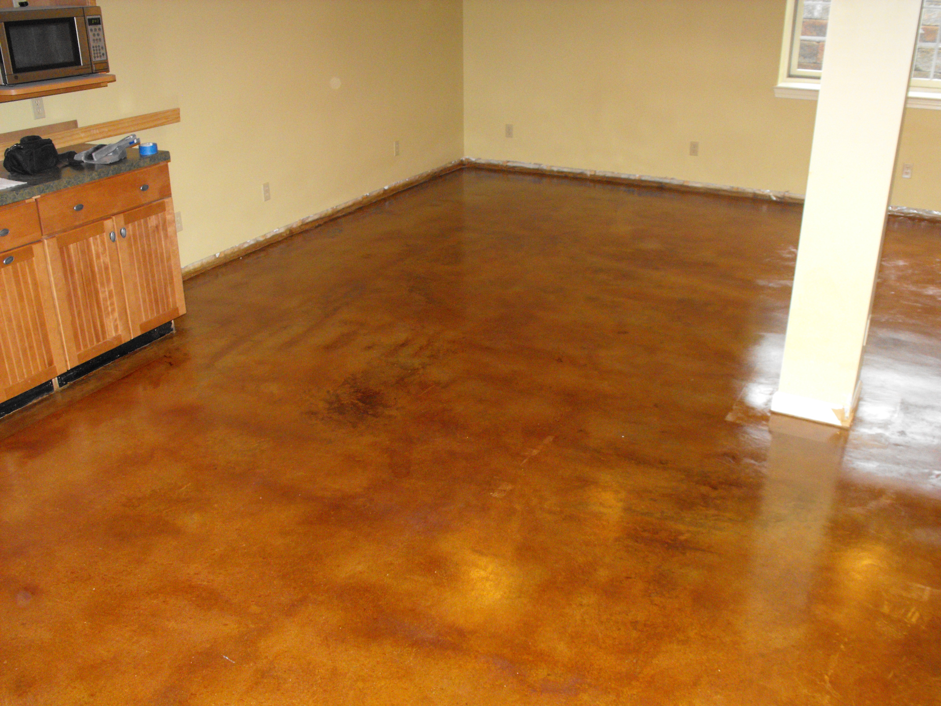 Nick dancer concrete fort wayne in stained concrete for What can i do to my concrete floor