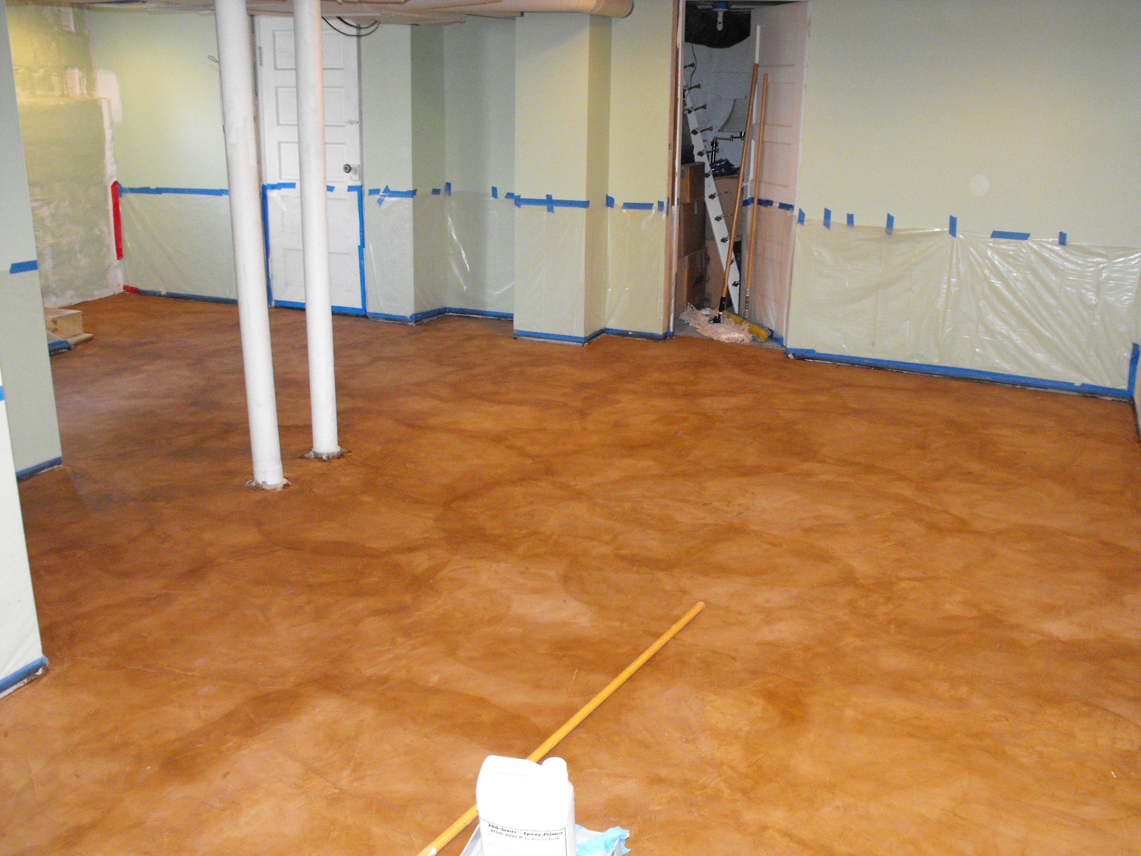 Stain On Concrete Basement Floor