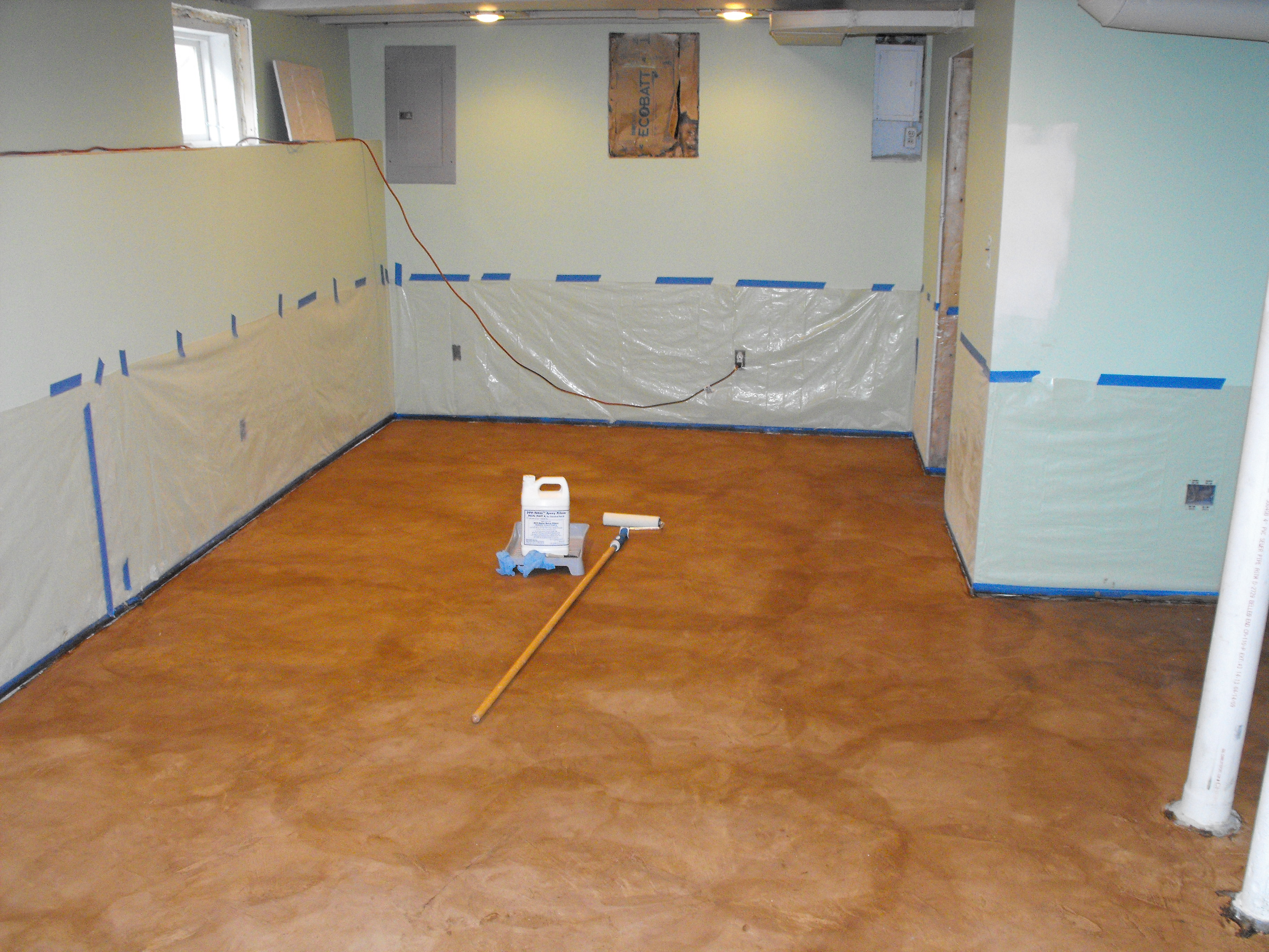 Stain on Concrete Basement Floor – Fort Wayne IN Nick Dancer