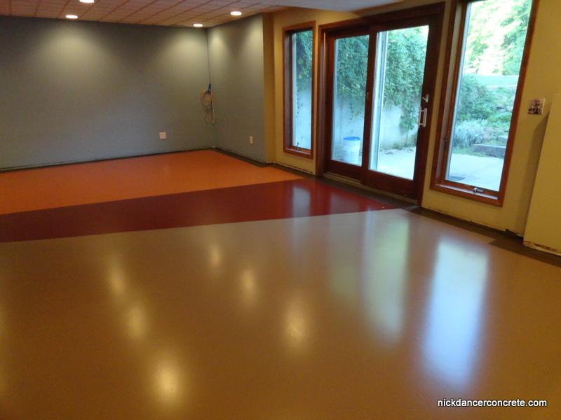 Showing Our True Colors » Colored Epoxy Basement Concrete Floor - Fort  Wayne - Dancer Concrete (9)
