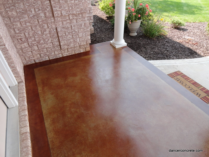 Lions tigers and porches oh my cozy with concrete for How to clean outdoor stained concrete